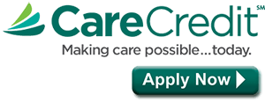 Logo for CareCredit, available for dental services from New Orleans dentist Dr. Duane Delaune.